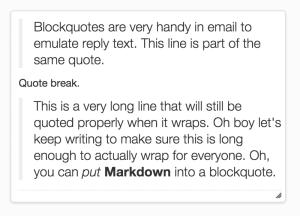 blockquotes