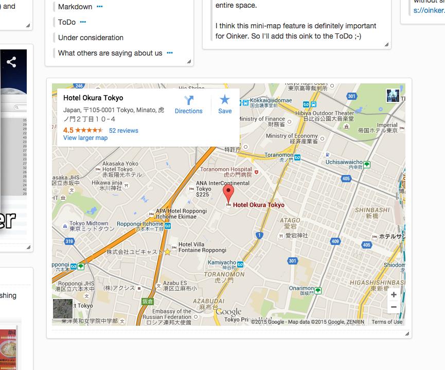 Embedding Google Maps Oinker Blog